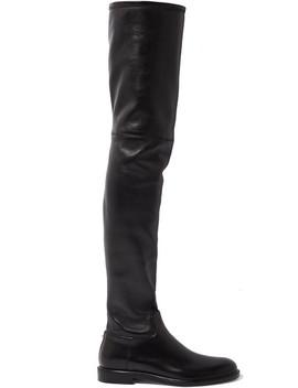 Valentino Garavani The Rockstud Leather Thigh Boots by Valentino
