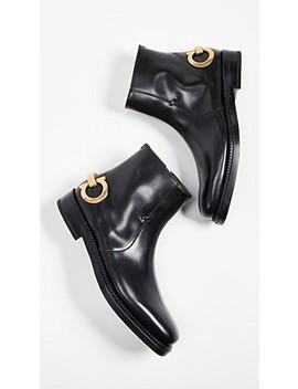 Bankley Gancini Heel Runway Boots by Salvatore Ferragamo