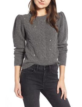 Jewel Deco Cable Sweater by Something Navy
