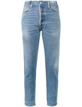 High Rise Cropped Jeans by Re/Done