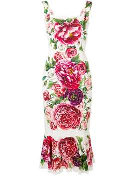 Floral Printed Dress by Dolce & Gabbana