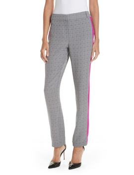 Side Stripe Check Silk Pants by Grey Jason Wu