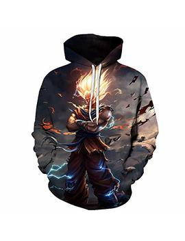 Chenma Men Dragon Ball 3 D Print Pullover Hoodie Sweatshirt With Kangaroo Pocket by Chenma