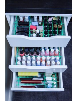 Drawer Dividers For Ikea Alex 5 Drawer Unit   Acrylic Makeup Organiser by Etsy