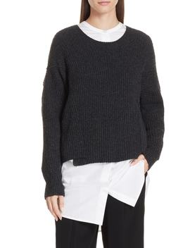 Overlap Panel Sweater by Vince