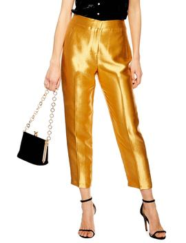 Clean Peg Satin Trousers by Topshop