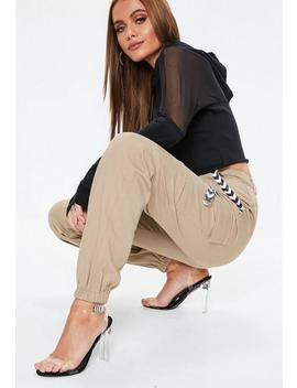 Sand Sports Tape Cargo Trousers by Missguided