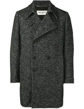 Chevron Caban Coat by Saint Laurent