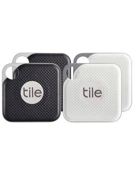 Tile Pro Bluetooth Item Tracker   4 Pack   Black/White by Tile