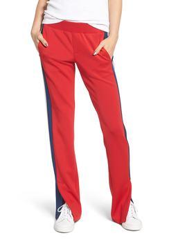 Stripe Scuba Knit Track Pants by Pam & Gela
