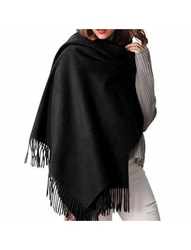 Women Cashmere Feel Pashmina Scarf Shawl Wraps Oversized Winter Blanket Scarves For Women Furtalk Designed by Furtalk