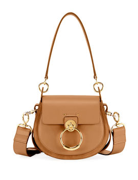 Tess Large Leather/Suede Camera Crossbody Bag by Chloe