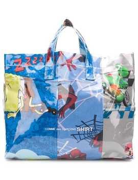 Cartoon Print Shopper Bag by Comme Des Garçons Shirt
