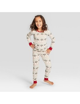 Burt's Bees Baby Kid's Holiday Snowflake Pajama Set   Ivory Xl by Shop This Collection