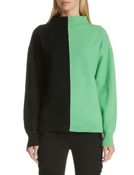Bicolor Boiled Wool Sweater by Robert Rodriguez
