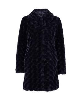Chocolate Brown Longline Faux Fur Coat by Dorothy Perkins