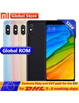 "Original Xiaomi Redmi Note 5 3 Gb Ram 32 Gb Rom Snapdragon S636 Octa Core Cellphone Miui9 5.99"" 2160*1080 4000m Ah 12.0+5.0 Mp by Xiaomi"