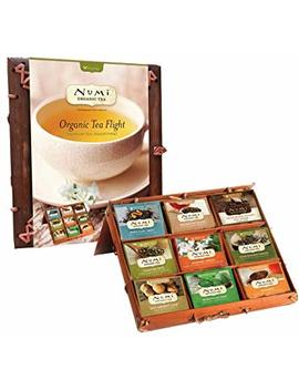 Numi Organic Tea Flight Variety Gift Set, 45 Bags, An Assortment Of Teas In A Bamboo Tea Chest, Includes Black, Pu Erh, Green, Rooibos, And Herbal Teas, Organic Tea... by Numi Organic Tea