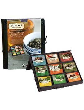 Numi Organic Tea World Of Tea Variety Gift Set, 45 Bags, Organic Tea Gift Box With Black, Green, Mate And Herbal Tea In Bamboo Chest, Individual Non Gmo... by Numi Organic Tea