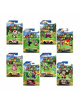 Hot Wheels, Super Mario, Bundle Of 8 Die Cast Cars, 1:64 Scale by Hot Wheels