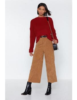 Wide Of The Mark Corduroy Culottes by Nasty Gal
