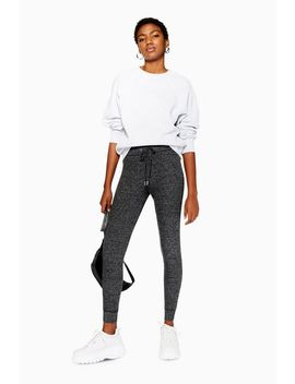 Petite Ribbed Skinny Joggers by Topshop