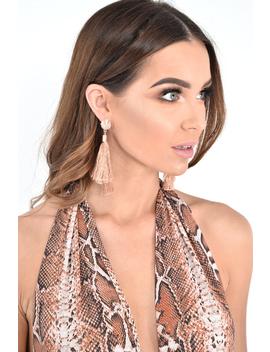 Rose Gold Tassel Earrings   Denae by Rebellious Fashion