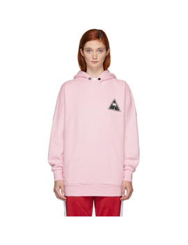 Pink Palm Icon Hoodie by Palm Angels