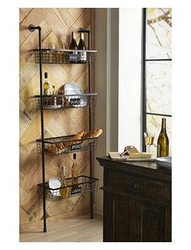 Truman 4 Basket Wall Shelf by Imax