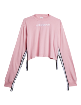 Adidas Falcon Taped Long Sleeve Shirt by Foot Locker