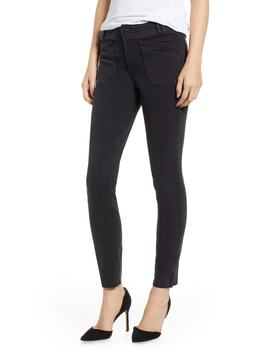 Hoxton Utilitarian High Waist Ankle Skinny Jeans by Paige