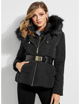 Aiko Longline Down Puffer Jacket by Guess