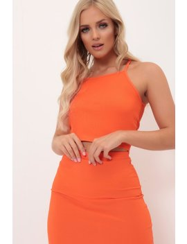 Orange Ribbed Cami Top by I Saw It First