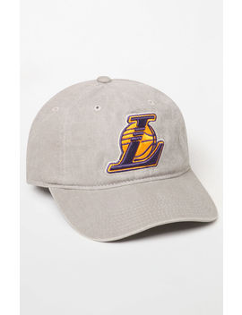 Mitchell & Ness Los Angeles Lakers Strapback Dad Hat by Pacsun