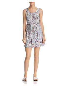 Floral Paisley Fit And Flare Dress   100 Percents Exclusive by Aqua