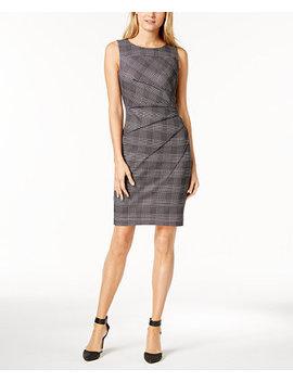 Houndstooth Starburst Sheath Dress, Regular & Petite by Calvin Klein