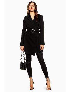 Crystal Buckle Blazer Dress by Topshop
