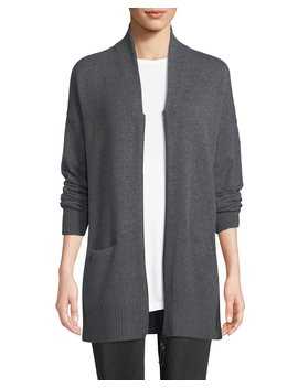 Shawl Collar Zip Front Cashmere Cardigan by Lafayette 148 New York
