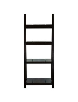 "60"" Folding Slatted Bookcase 4 Shelf by Flora Home"