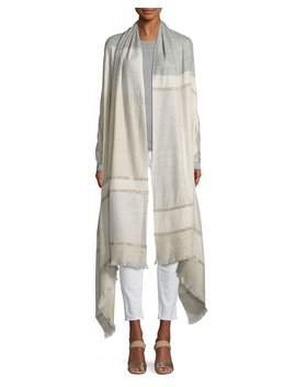 Embellished Lightweight Cashmere Scarf by Lafayette 148 New York