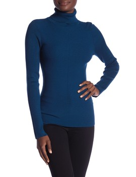 Turtleneck Rib Knit Sweater by Vertigo