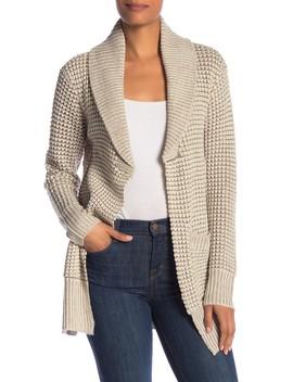 Shaker Shawl Collar Reverse Sweater by Modern Designer