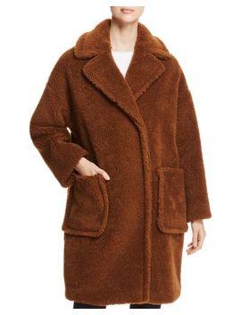Reale Faux Fur Teddy Bear Coat by Weekend Max Mara