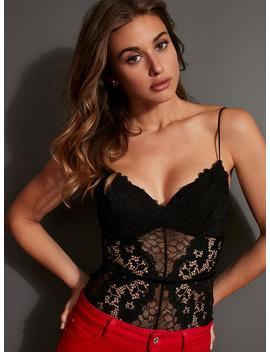 Nea Lace Bustier Bodysuit by Guess