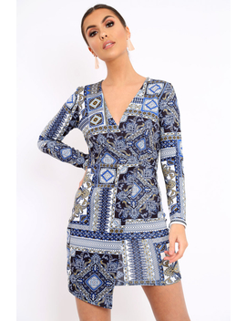 Navy Paisley Print   Hollee by Rebellious Fashion