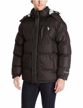U.S. Polo Assn. Men's Classic Short Puffer Jacket With Small Logo by U.S. Polo Assn.