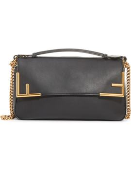 Double F Leather & Canvas Shoulder Bag by Fendi
