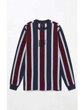 Huf Adios Stripe Maroon Long Sleeve T Shirt by Pacsun