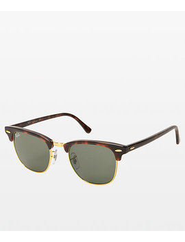 Ray Ban Large Clubmaster Tortoise Sunglasses by Ray Ban