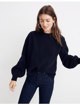 Boatneck Button Shoulder Sweater by Madewell